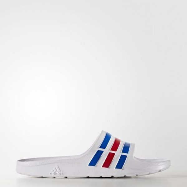 Adidas Sandales Duramo Homme White/Power Blue/Red ...