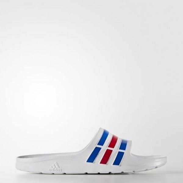 Adidas Sandales Duramo Homme White/Power Blue/Red ...