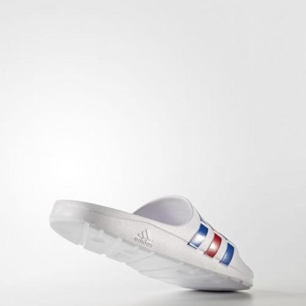 Adidas Sandales Duramo Homme White/Power Blue/Red Natation Chaussures NO: U43664