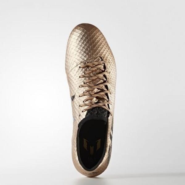 Adidas Messi 16.1 Terrain Souple Homme Copper Metallic/Core Black/Solar Green Football Chaussures NO: BA9109