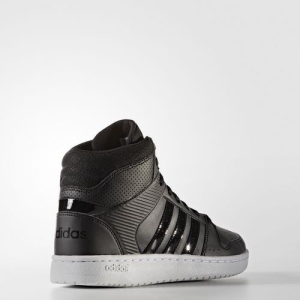 Adidas Vs Hoopster Mid Femme Core Black/Footwear White neo Chaussures NO: B74435