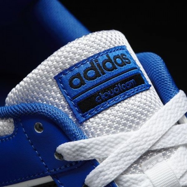 Adidas Cloudfoam Bb Hoops Homme Footwear White/Core Black/Blue neo Chaussures NO: AW3909
