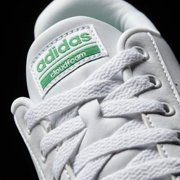 Adidas Cloudfoam Advantage Clean Homme Footwear White/Green neo Chaussures NO: AW3914