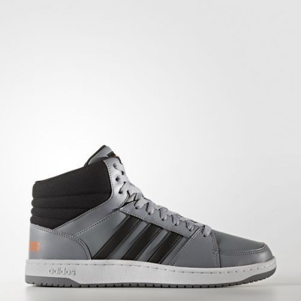 Adidas Vs Hoops Mid Homme Grey/Core Black/Solar Re...