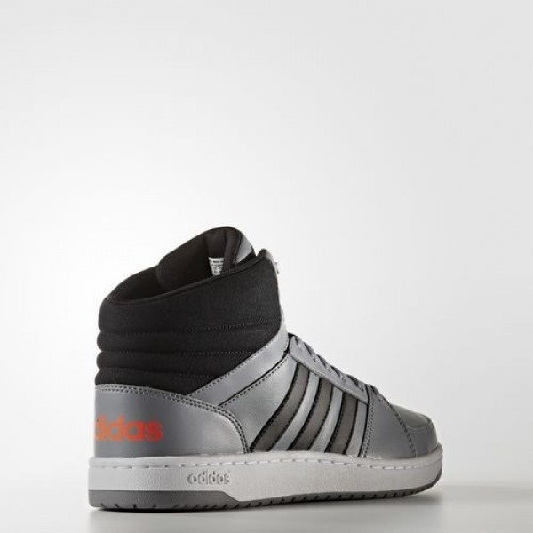 Adidas Vs Hoops Mid Homme Grey/Core Black/Solar Red neo Chaussures NO: B74503