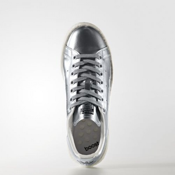 Adidas Stan Smith Boost Femme Silver Metallic/Footwear White Originals Chaussures NO: BB0108