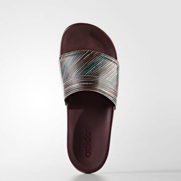 Adidas Sandales Adilette Cloudfoam Plus Salinas Femme Maroon/Footwear White Natation Chaussures NO: BB3667