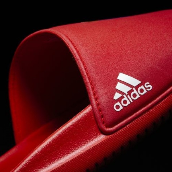 Adidas Sandale Fc Bayern Football Homme True Red/Footwear White Natation Chaussures NO: AQ3793