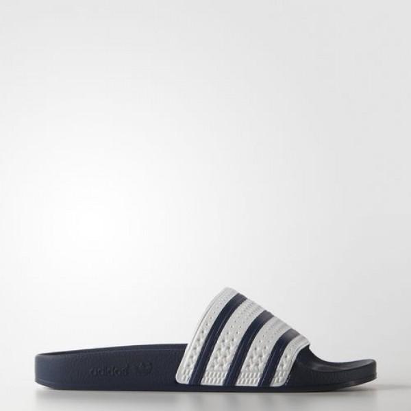 Adidas Sandales Adilette Femme adiblue/White Origi...