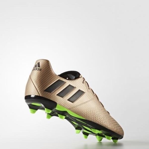 Adidas Messi 16.3 Terrain Souple Homme Copper Metallic/Core Black/Solar Green Football Chaussures NO: BA9838