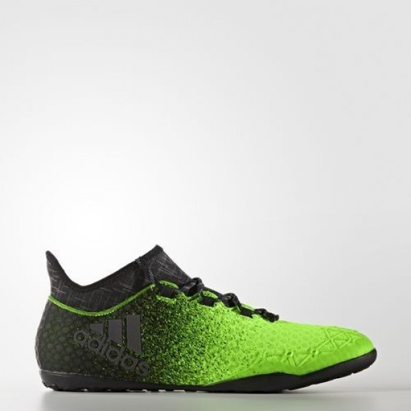 Adidas X Tango 16.1 Indoor Homme Solar Green/Core Black/Copper Metallic Football Chaussures NO: BB5001