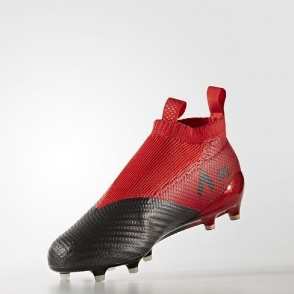 Adidas Ace 17+ Purecontrol Terrain Souple Homme Red/Footwear White/Core Black Football Chaussures NO: BB4314