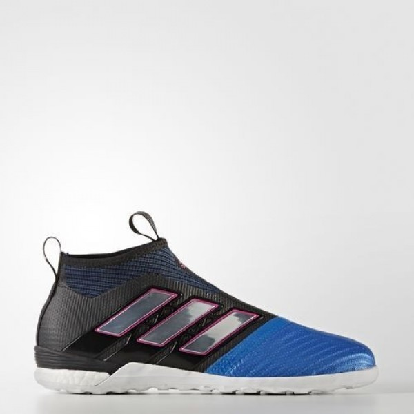 Adidas Ace Tango 17+ Purecontrol Indoor Homme Core Black/Footwear White/Blue Football Chaussures NO: BY2820