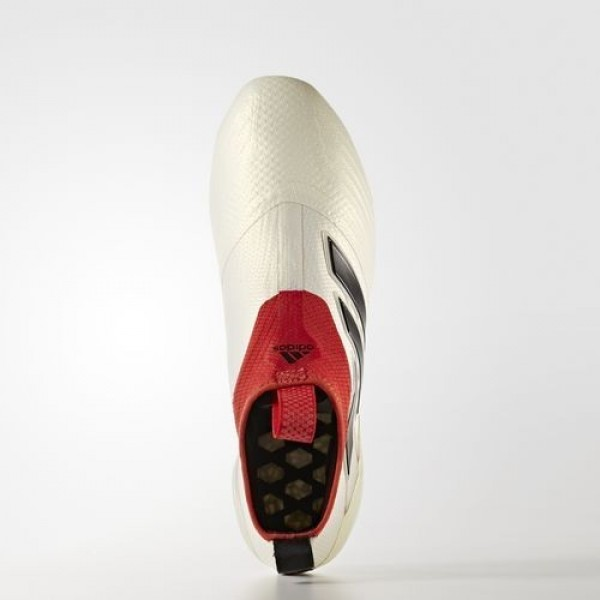 Adidas Ace 17+ Purecontrol Champagne Terrain Souple Homme Off White/Core Black/Red Football Chaussures NO: BA7599