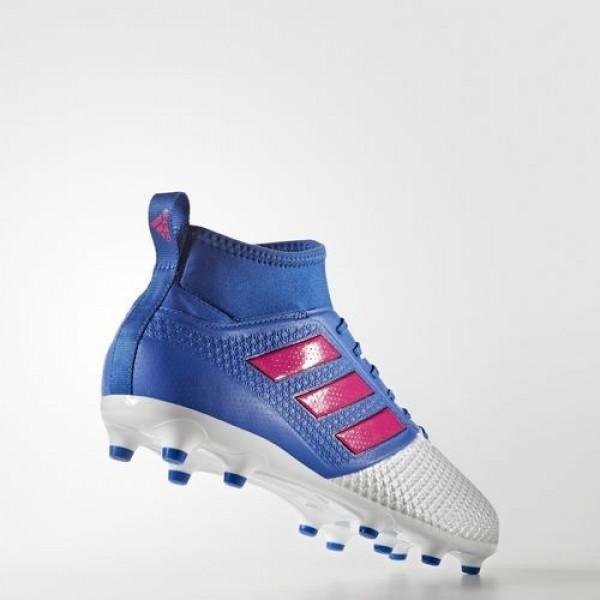 Adidas Ace 17.3 Primemesh Terrain Souple Homme Blue/Shock Pink/Footwear White Football Chaussures NO: BA8507
