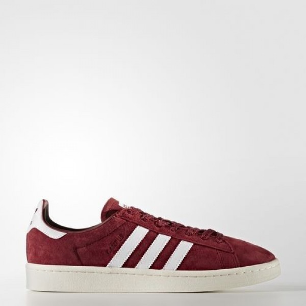 Adidas Campus Homme Collegiate Burgundy/Footwear White/Chalk White Originals Chaussures NO: BB0079