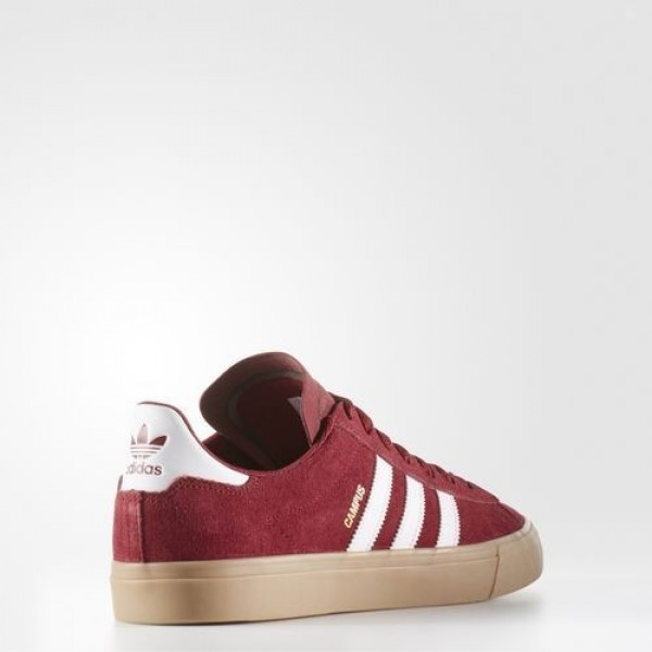 Adidas Campus Vulc Adv 2.0 Homme Collegiate Burgundy/Footwear White/Gum Originals Chaussures NO: BB8523