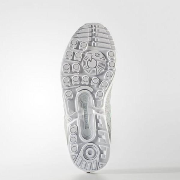 Adidas Zx Flux Femme Medium Grey Heather/Easy Mint/Footwear White Originals Chaussures NO: BB2259
