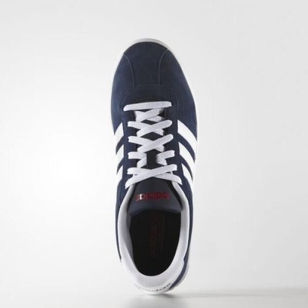 Adidas Vl Court Homme Collegiate Navy/Footwear White/Power Red neo Chaussures NO: F99260