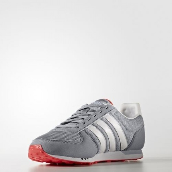 Adidas City Racer Femme Grey/Footwear White/Matte Silver neo Chaussures NO: B74511