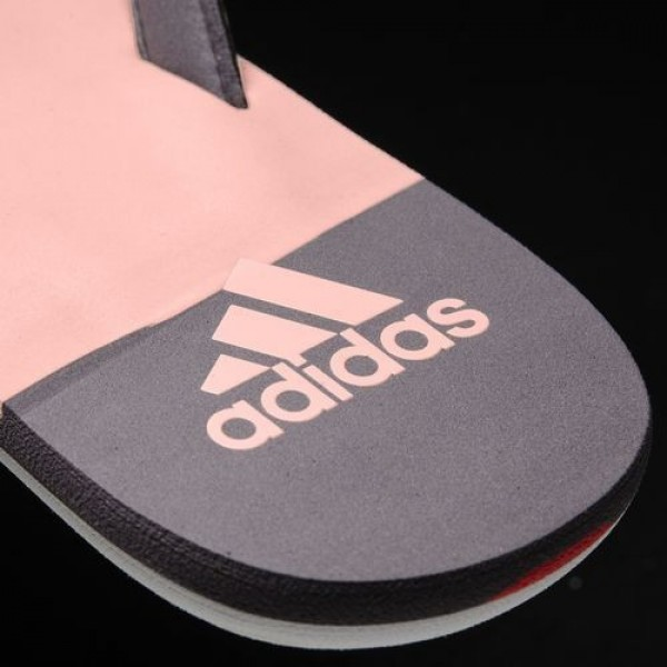 Adidas Tong Eezay Striped Femme Trace Grey/Haze Coral/Easy Coral Natation Chaussures NO: S80425