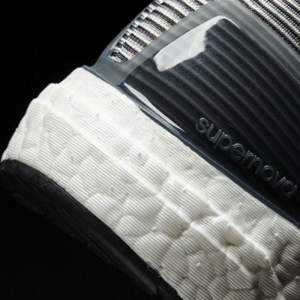 Adidas Supernova Homme Vista Grey/Core Black/Unity Blue Running Chaussures NO: BA9933