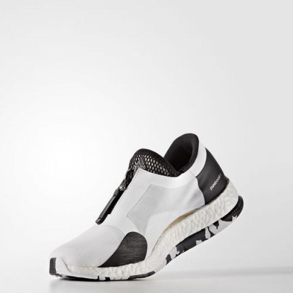 Adidas Pure Boost X Trainer Zip Femme Footwear White/Core Black/Dark Grey Heather Solid Grey Lifestyle Chaussures NO: BB1578