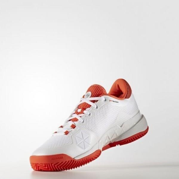 Adidas Barricade 2017 Clay Homme Footwear White/Dark Grey Heather Solid Grey/Energy Tennis Chaussures NO: BA9102