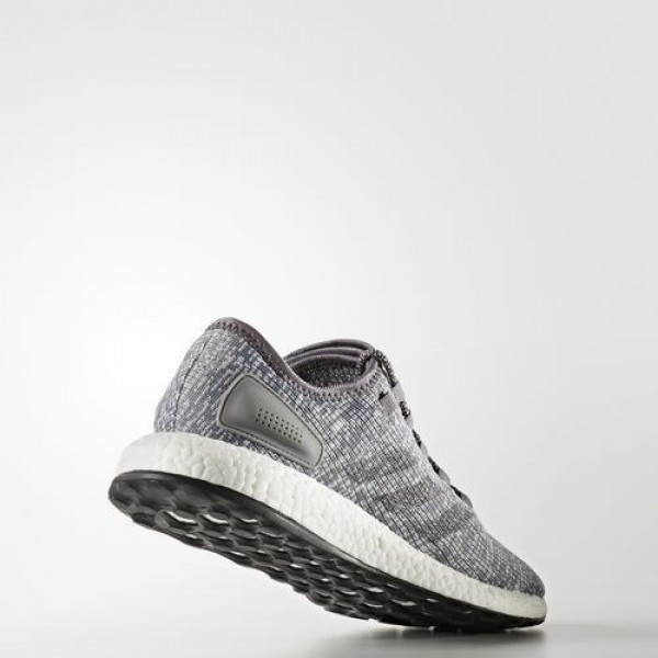 Adidas Pure Boost Homme Grey/Dark Grey Heather Solid Grey/Clear Grey Running Chaussures NO: BA8900