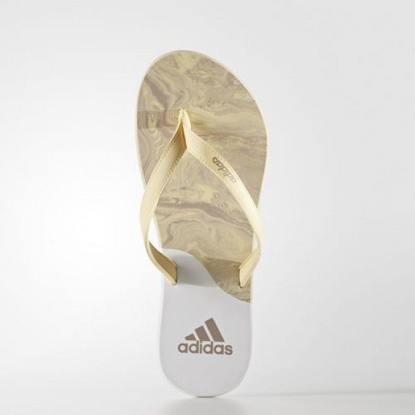 Adidas Tong Eezay Ice Cream Femme Easy Yellow/Vapour Grey/Footwear White Natation Chaussures NO: BA8807
