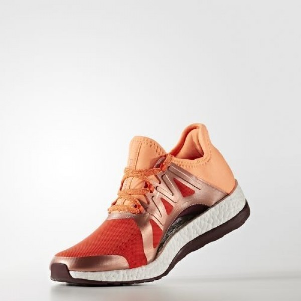 Adidas Pure Boost Xpose Femme Energy/Glow Orange/Maroon Running Chaussures NO: BB1731