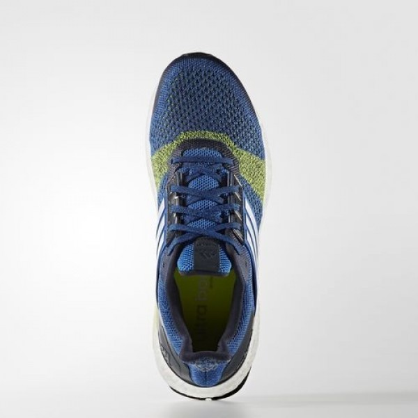 Adidas Ultra Boost St Homme Blue/Footwear White/Solar Yellow Running Chaussures NO: BA7837