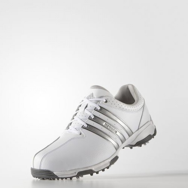 Adidas 360 Traxion Wd Homme Footwear White/Silver Metallic/Dark Silver Metallic Golf Chaussures NO: F33432