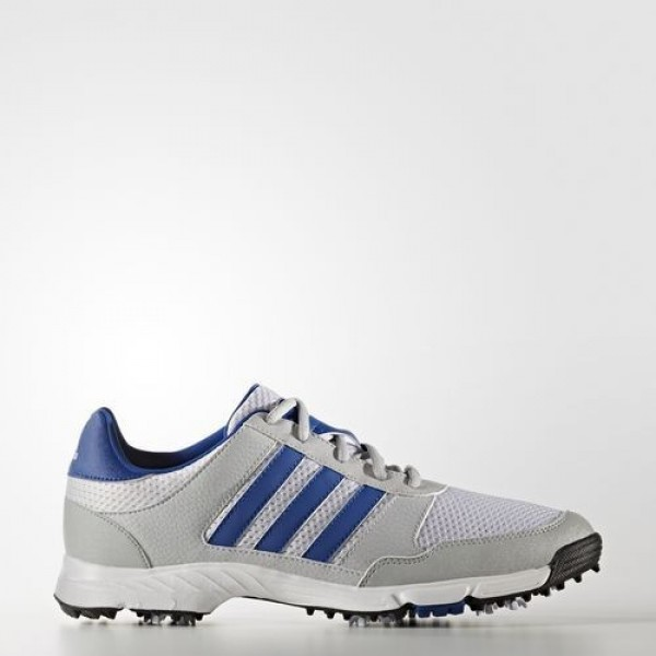 Adidas Tech Response Homme Ftwr White / Collegiate Royal / Clear Onix Golf Chaussures NO: Q44883