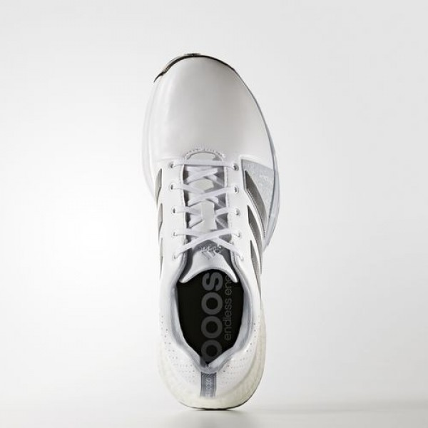 Adidas Adipower Boost 3 Wide Homme Footwear White/Silver Metallic/Core Black Golf Chaussures NO: Q44762
