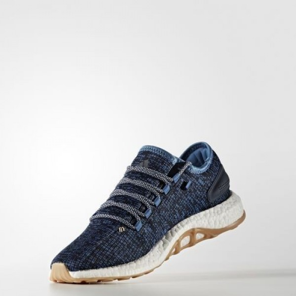 Adidas Pure Boost Homme Core Blue/Linen/Night Navy Running Chaussures NO: BA8896