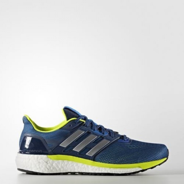 Adidas Supernova Homme Blue/Silver Metallic/Solar Yellow Running Chaussures NO: BB6037