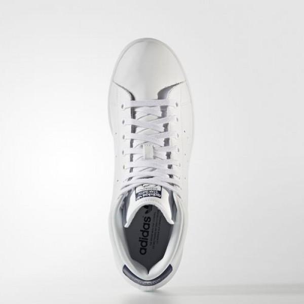 Adidas Stan Smith Mid Femme Footwear White/Dark Blue Originals Chaussures NO: BB0070