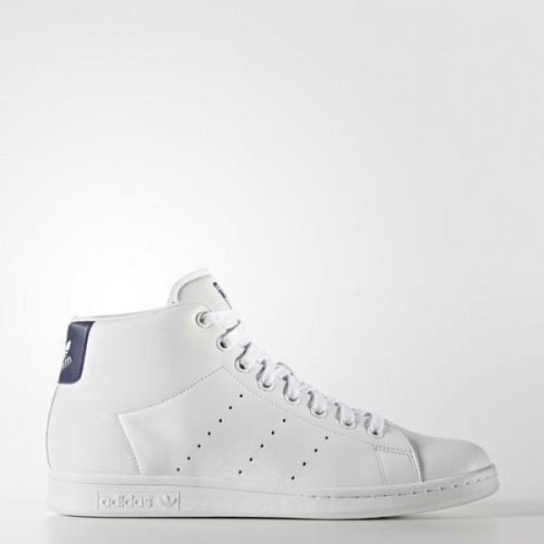 Adidas Stan Smith Mid Femme Footwear White/Dark Bl...