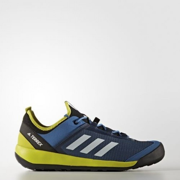 Adidas Terrex Swift Solo Homme Core Blue/Chalk White/Unity Lime Chaussures NO: BB1993