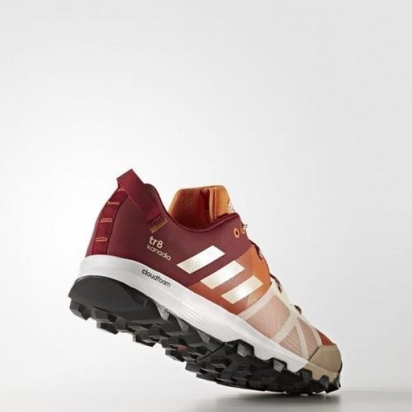 Adidas Kanadia 8 Trail Homme Tactile Orange/Chalk White/Collegiate Burgundy Outdoor Chaussures NO: BB4415