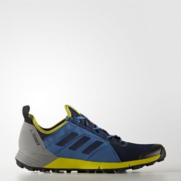 Adidas Terrex Agravic Speed Homme Collegiate Navy/Core Blue/Unity Lime Chaussures NO: BB1958