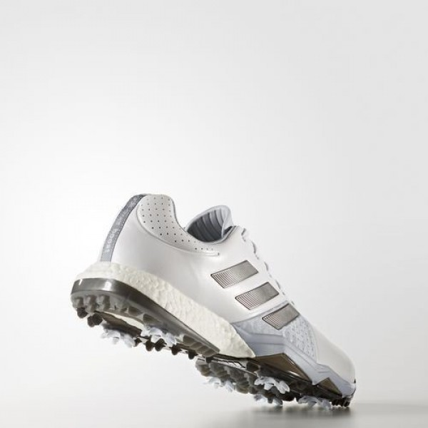 Adidas Adipower Boost 3 Homme Footwear White/Silver Metallic/Core Black Golf Chaussures NO: Q44756