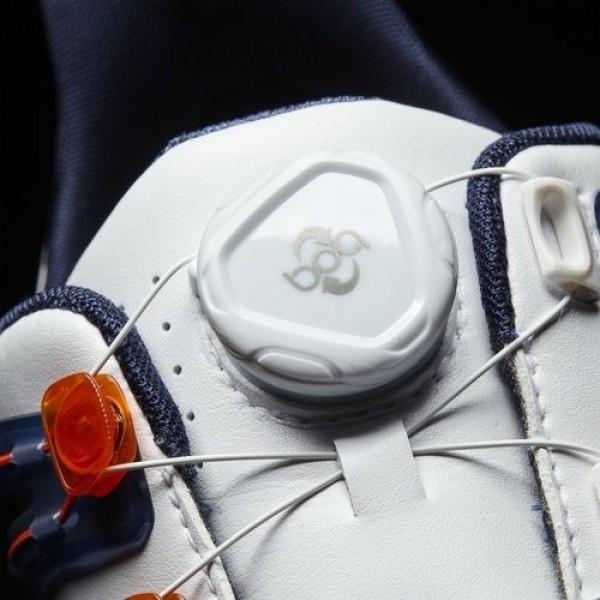 Adidas Powerband Boa Boost Wide Homme Footwear White/Dark Slate/Energy Golf Chaussures NO: Q44775