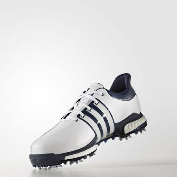 Adidas Tour360 Boost Wide Homme Footwear White/Dark Slate/Silver Metallic Golf Chaussures NO: Q44830