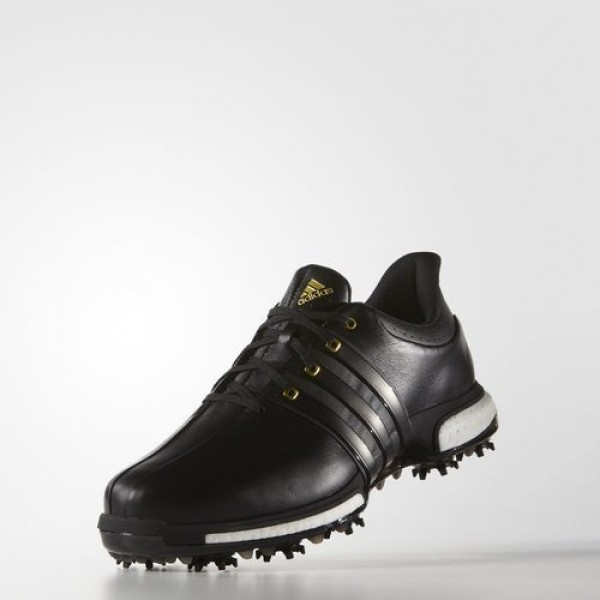 Adidas Tour 360 Boost Wide Homme Core Black/Gold Metallic Golf Chaussures NO: F33262