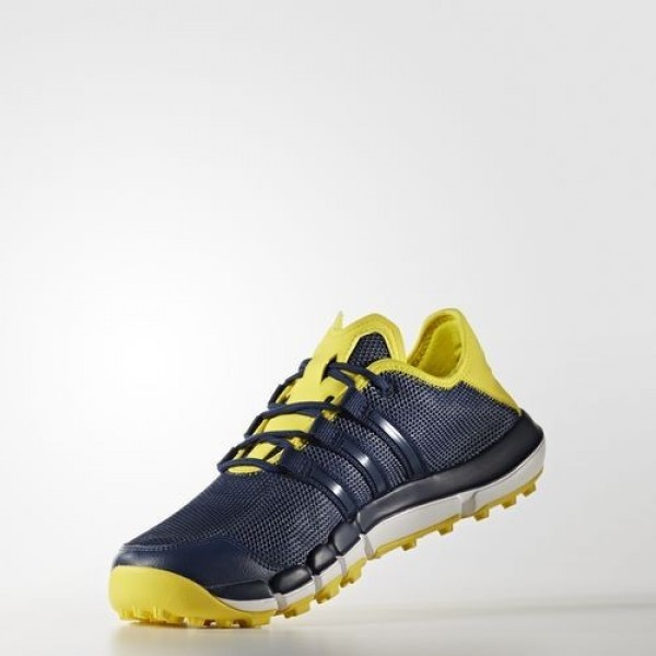 Adidas Climacool St Homme Mystery Blue / Mystery Blue / Vivid Yellow Golf Chaussures NO: F33528