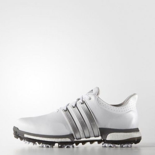 Adidas Tour 360 Boost Homme Footwear White/Silver Metallic/Dark Silver Metallic Golf Chaussures NO: F33249