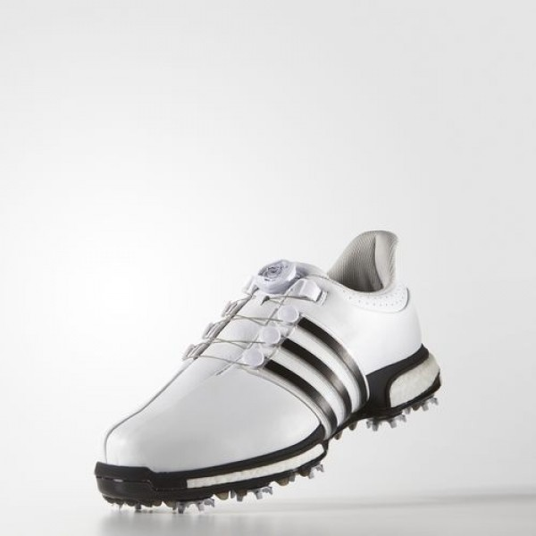 Adidas Tour 360 Boa Boost Homme Footwear White/Core Black/Dark Silver Metallic Golf Chaussures NO: F33409