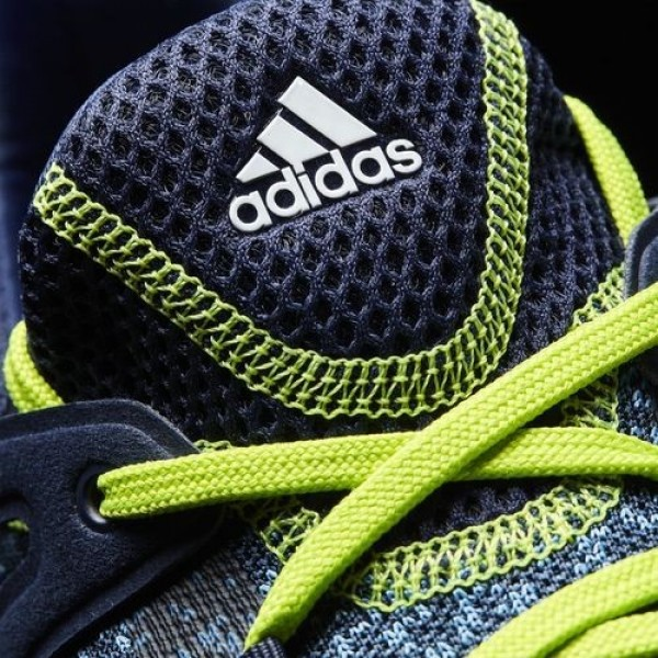 Adidas Crossknit Boost Homme Collegiate Navy/Core Blue/Solar Slime Golf Chaussures NO: Q44685